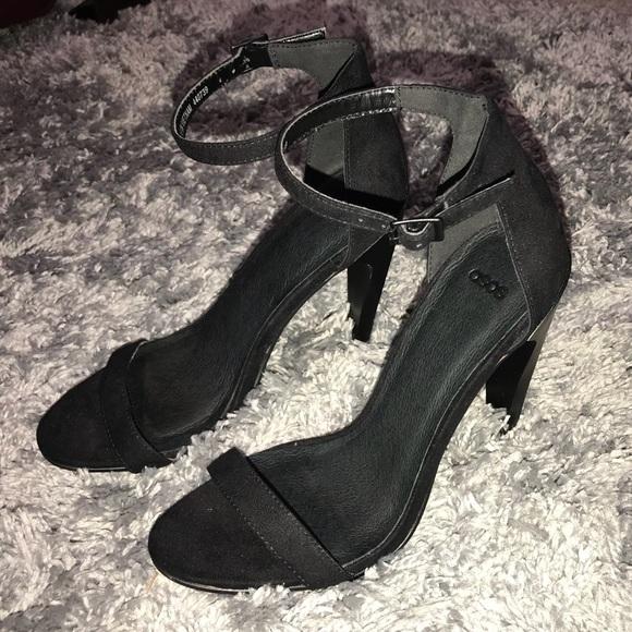 ASOS Shoes   Black Ankle Strap Heel